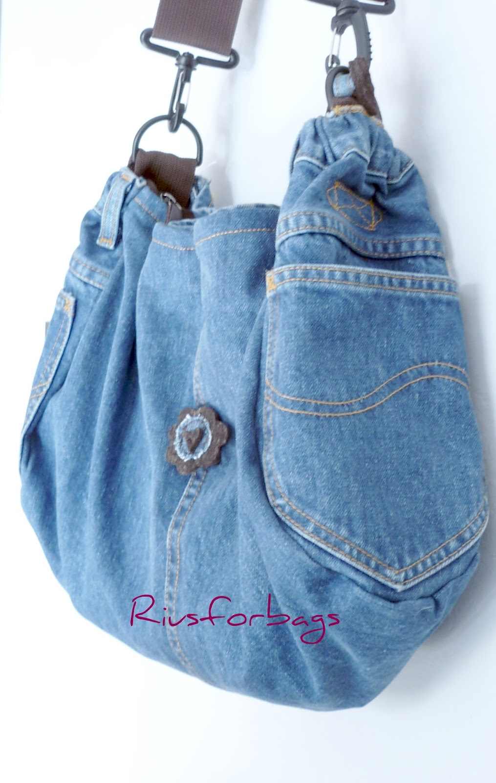 Tiricucio riusforbags for Borsa jeans tutorial