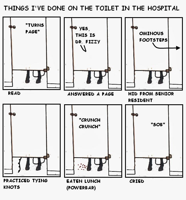 Cartoon Guide To Becoming A Doctor Things I 39 Ve Done On The Toilet