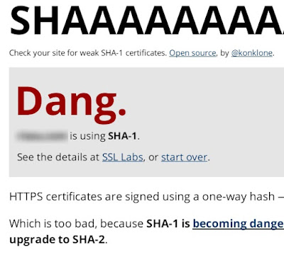 SHA1 のテスト