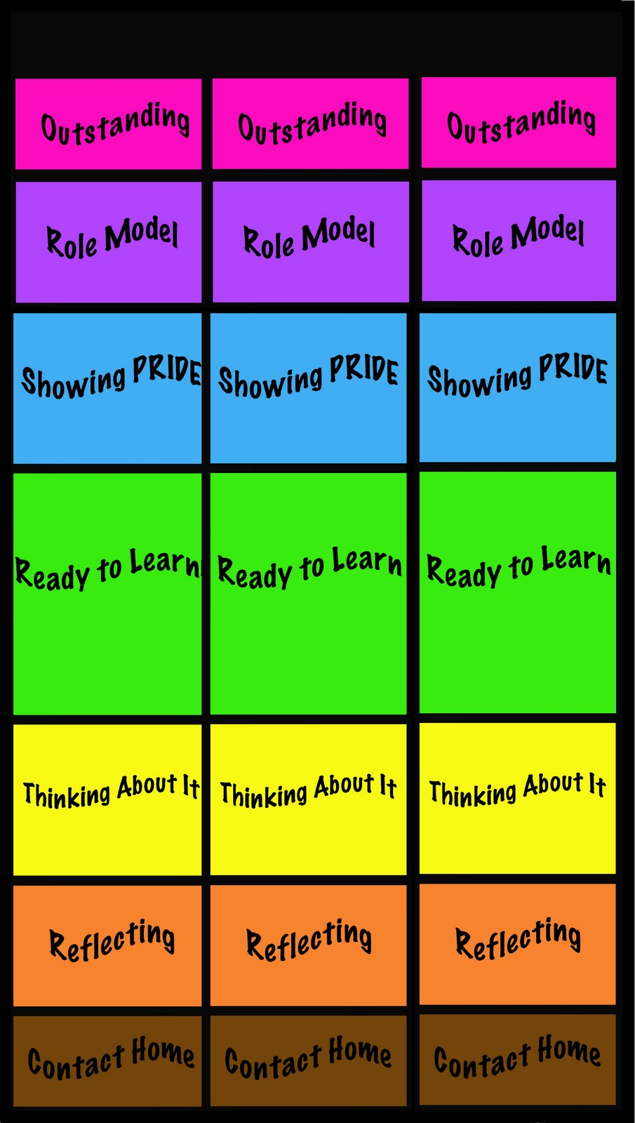 FREE Clip Chart Behavior Plan ClutterFree Classroom – Behaviour Chart Template