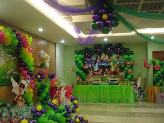 Decoracion Tinkerbell para Fiestas Infantiles, parte 1