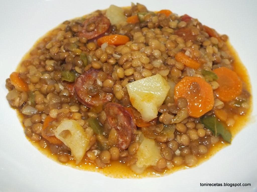 La cocina de toni for Cocinar lentejas con verduras
