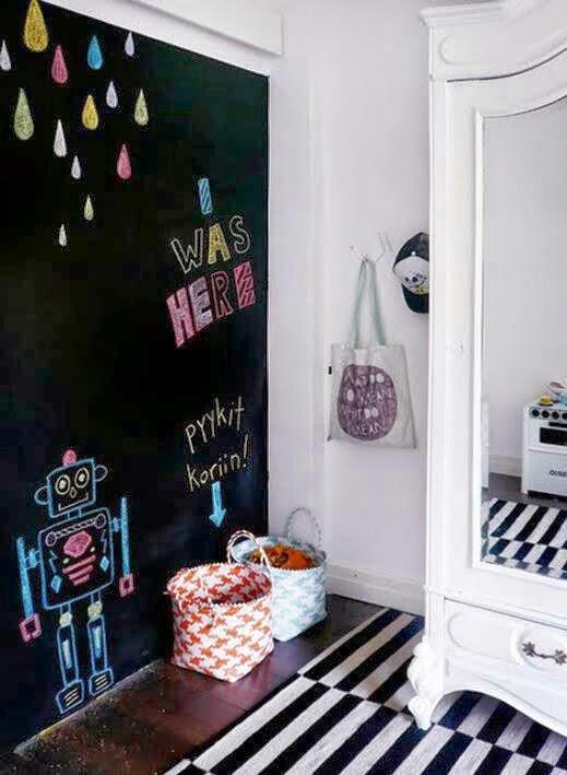 pared de pizarra no solo en la cocina - Pared De Pizarra