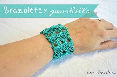 Pulsera crochet broomstick