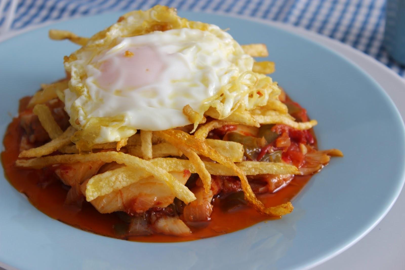 Bacalao Ajoarriero con Huevo   Las Recetas de Marichu.... y las mias