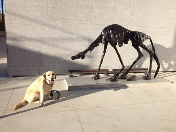 Labrador Cooper West Hollywood Doggie Dig sculpture