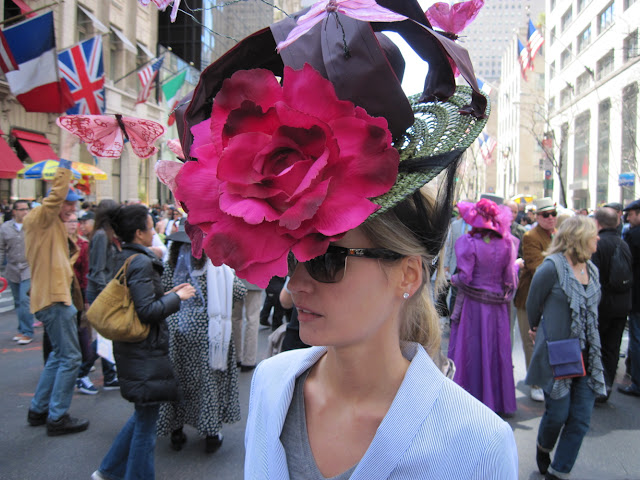 Easter bonnets come in all shapes and sizes for the Old New York tradition of the Easter Parade
