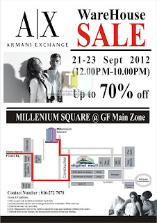 Armani Exchange Warehouse SALE 2012