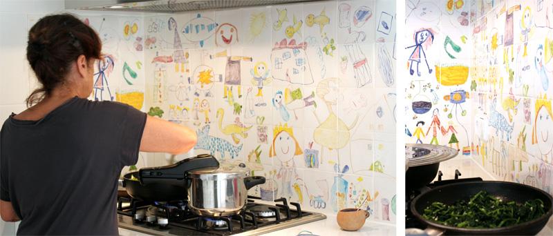Clak blog c mo fabricar tus propios azulejos - Pintar sobre azulejos cocina ...