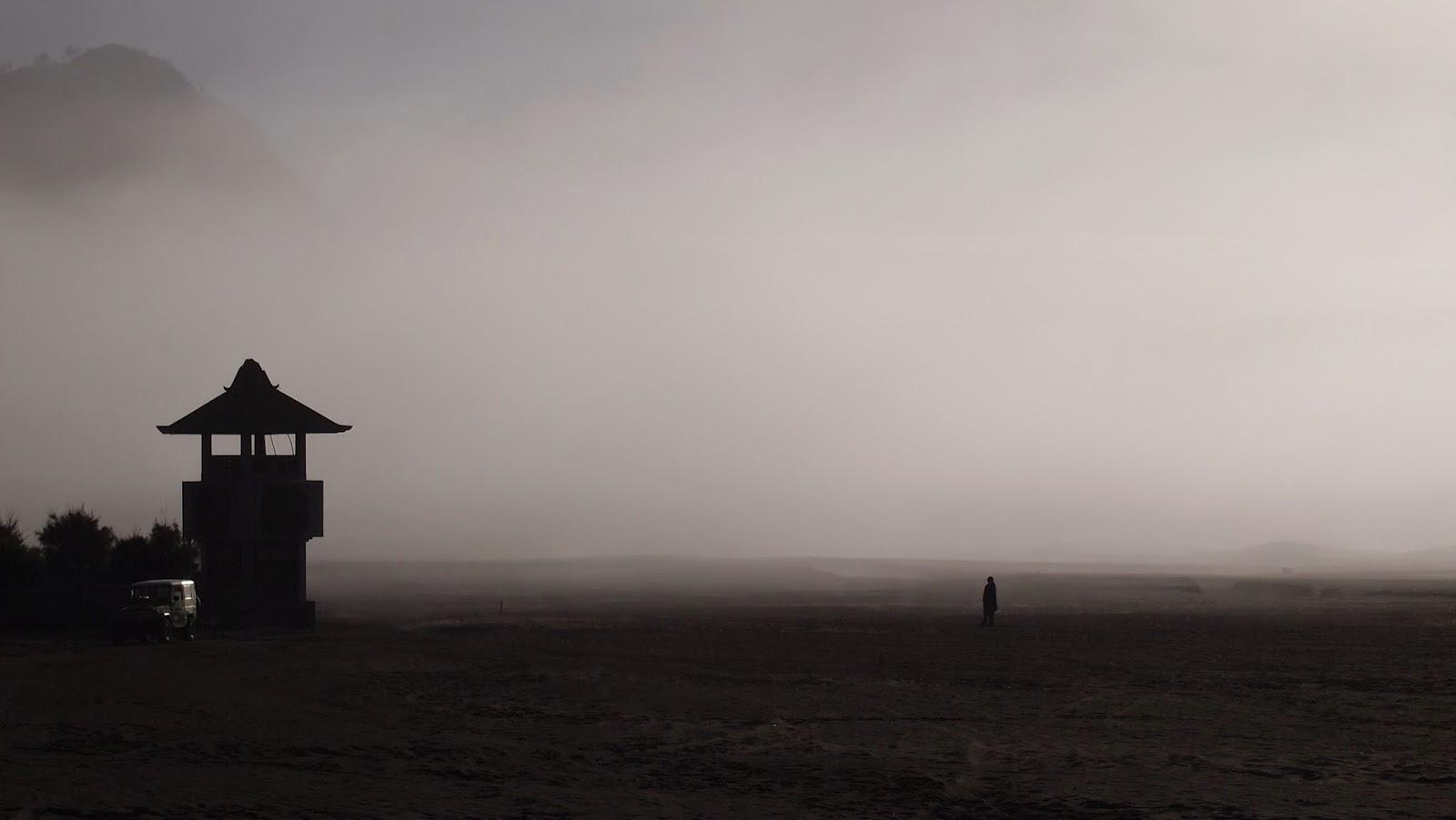 Homem solitário no campo