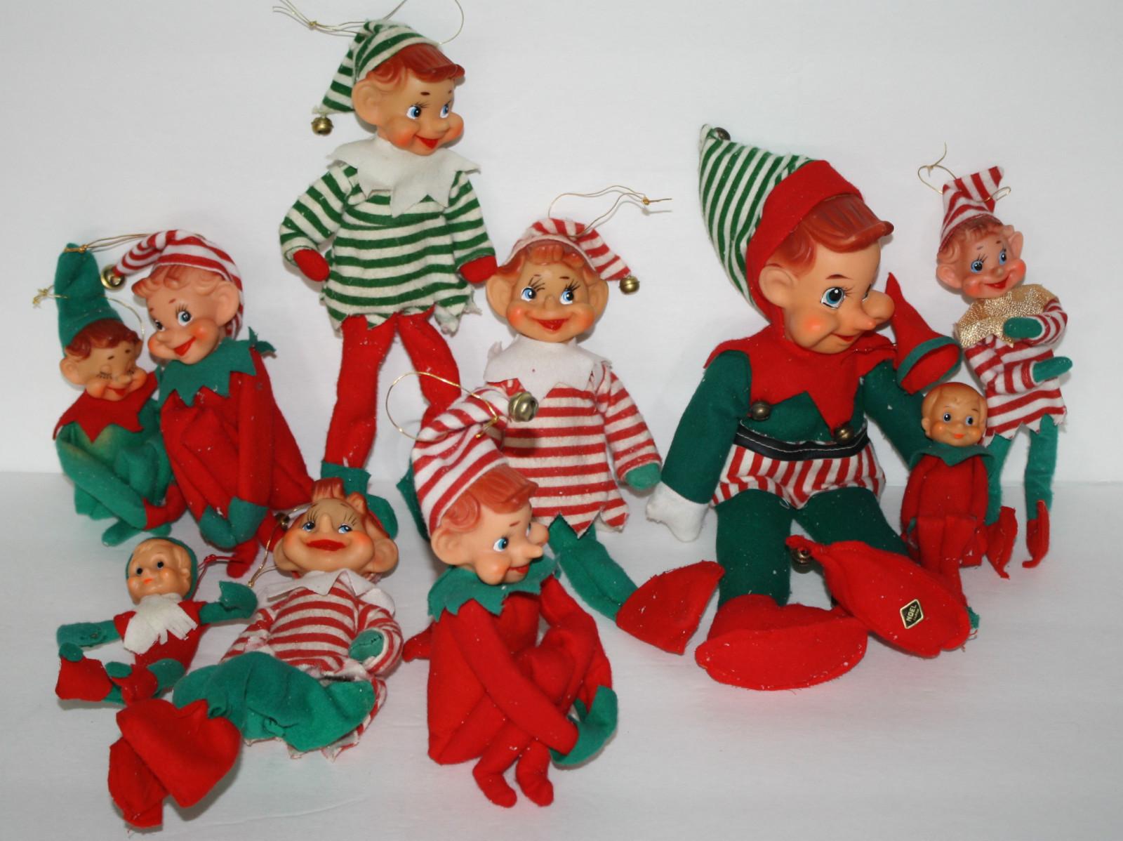 Vintage Goodness 1.0: Vintage knee hugger elves for Elf on the Shelf!