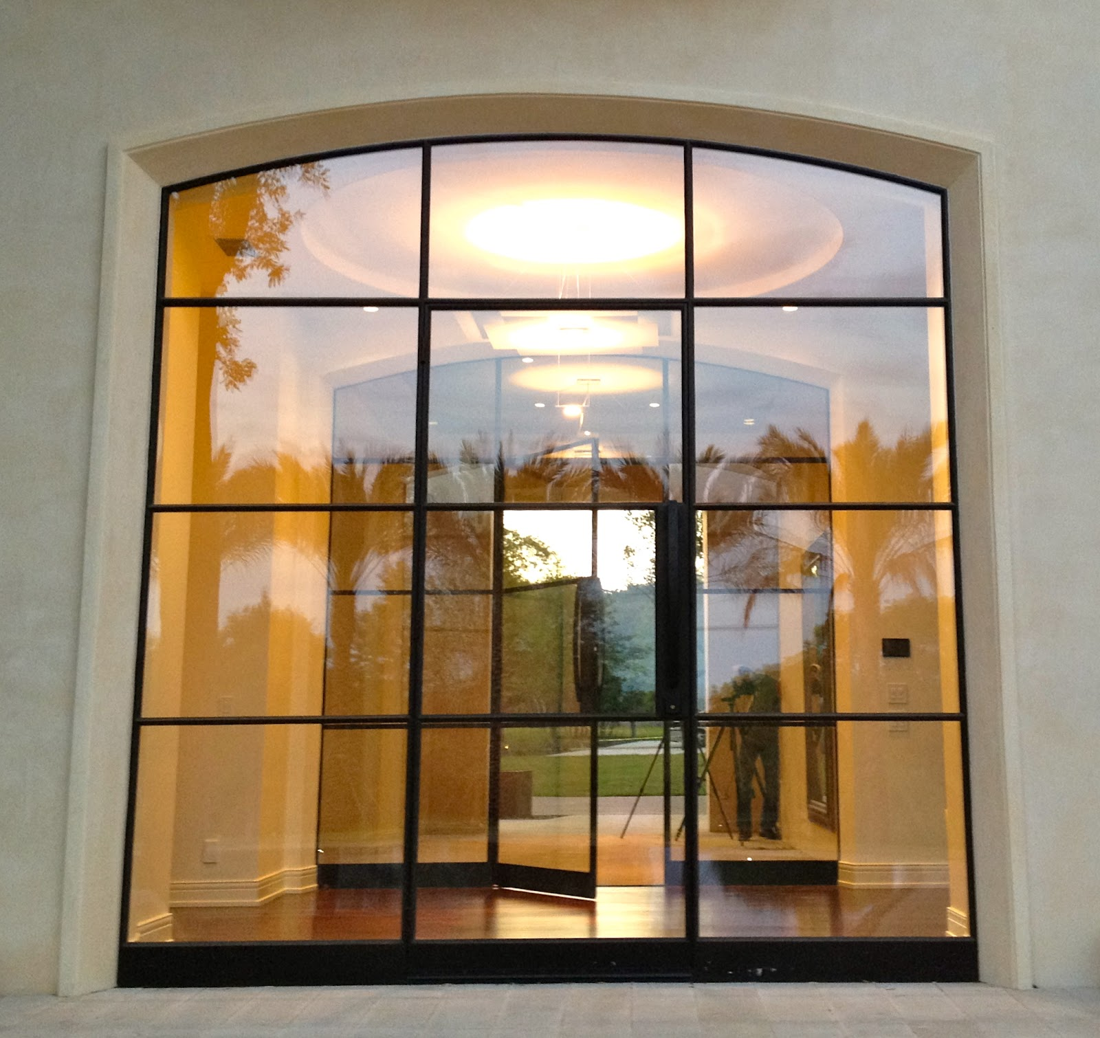 1510 #6F491F 2nd Entry Was Added To Allow View And Access To The Stunning Pool  save image Custom Made Steel Doors 46671600