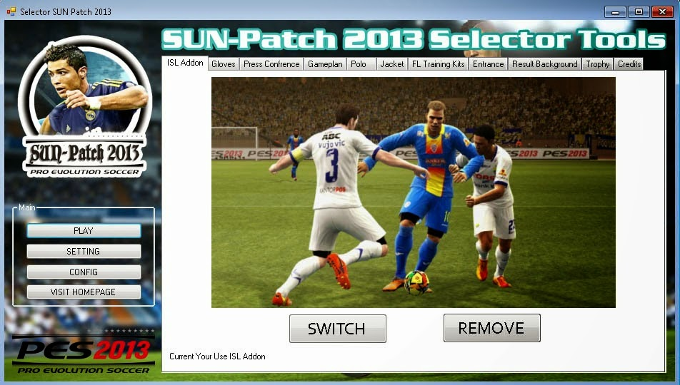 Free Download PES 2013 Sun PATCH 2.00 Full Winter April 2014