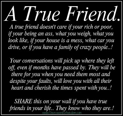 a true friend doesn't care if your rich