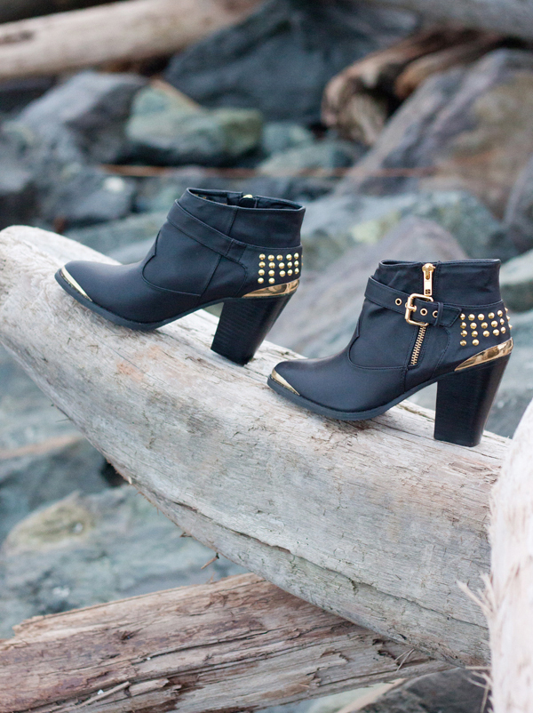 Cute studded ankle boots from Composure Vintage