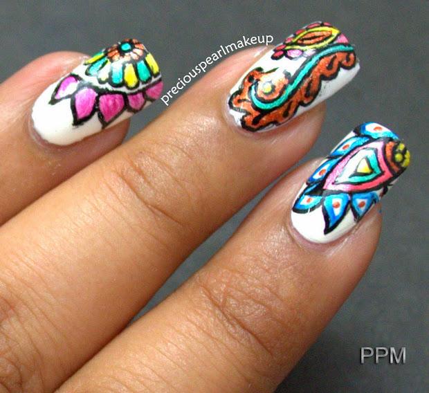 preciouspearlmakeup henna inspired