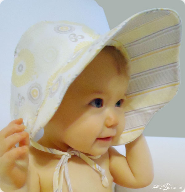 Mommy\'s Apron Strings: My First Pattern! Free Ella Kathryn Baby Bonnet