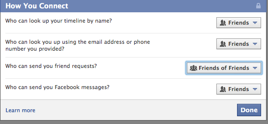 how to change what public can see on ym facebook