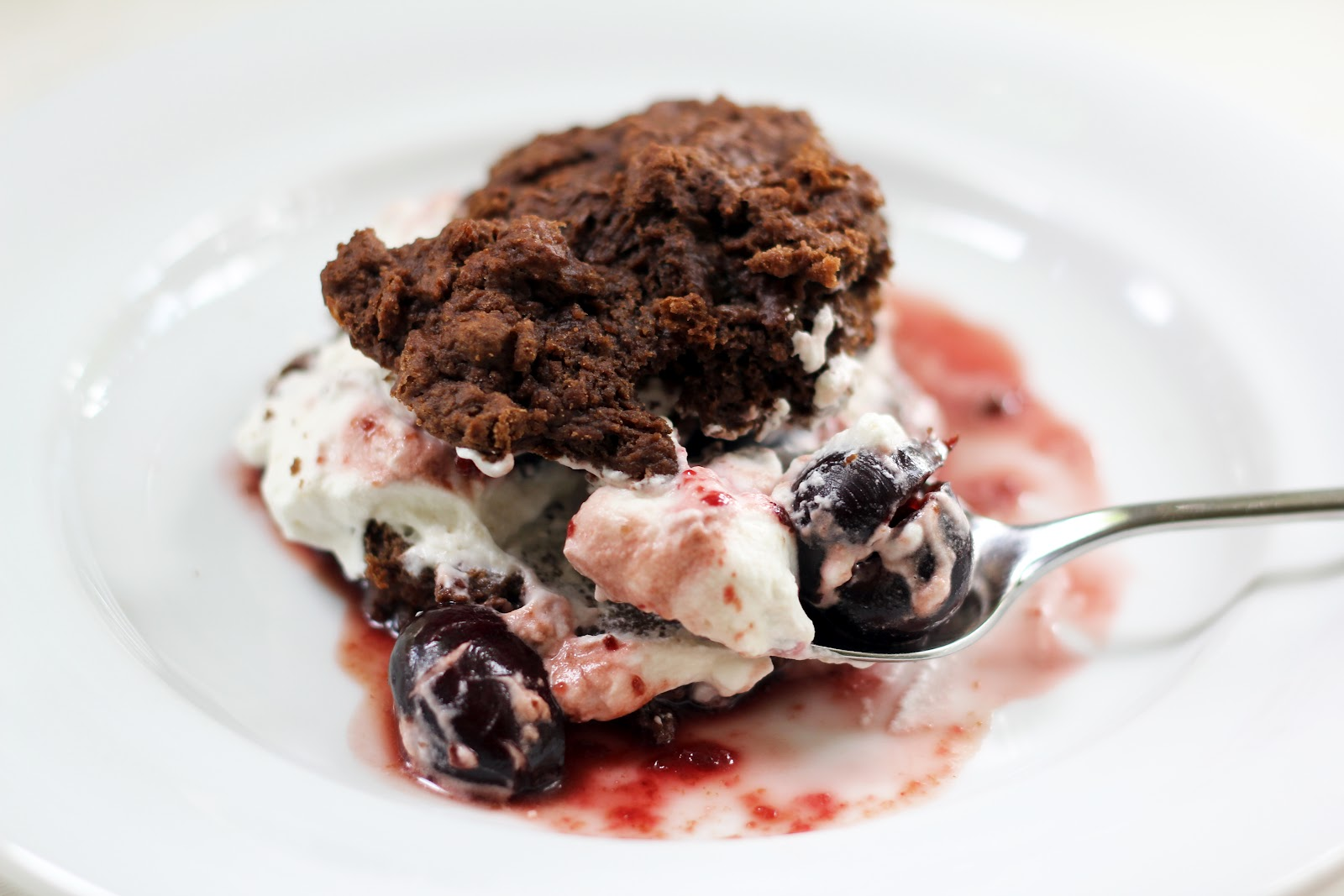 Blue Kale Road: Chocolate Cherry Bourbon Shortcake