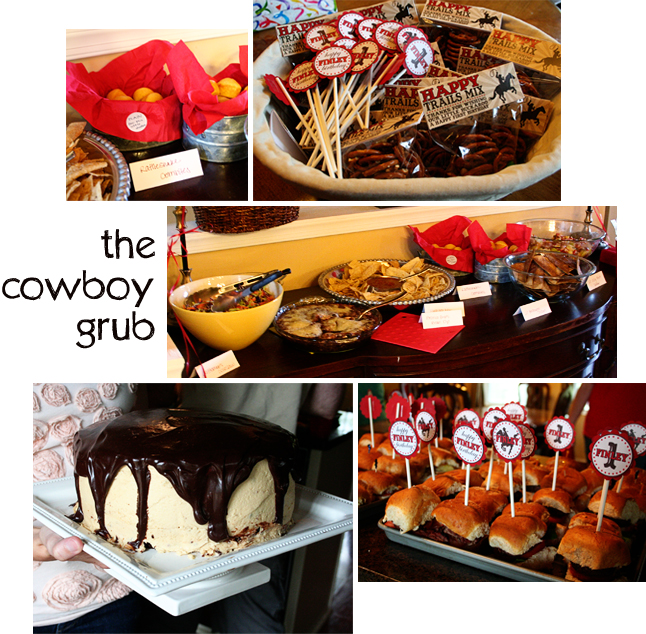 Cowboy Snack Ideas http://cometogethercards.blogspot.com/2011/06/cowgirl-chic-birthday-party-ideas.html