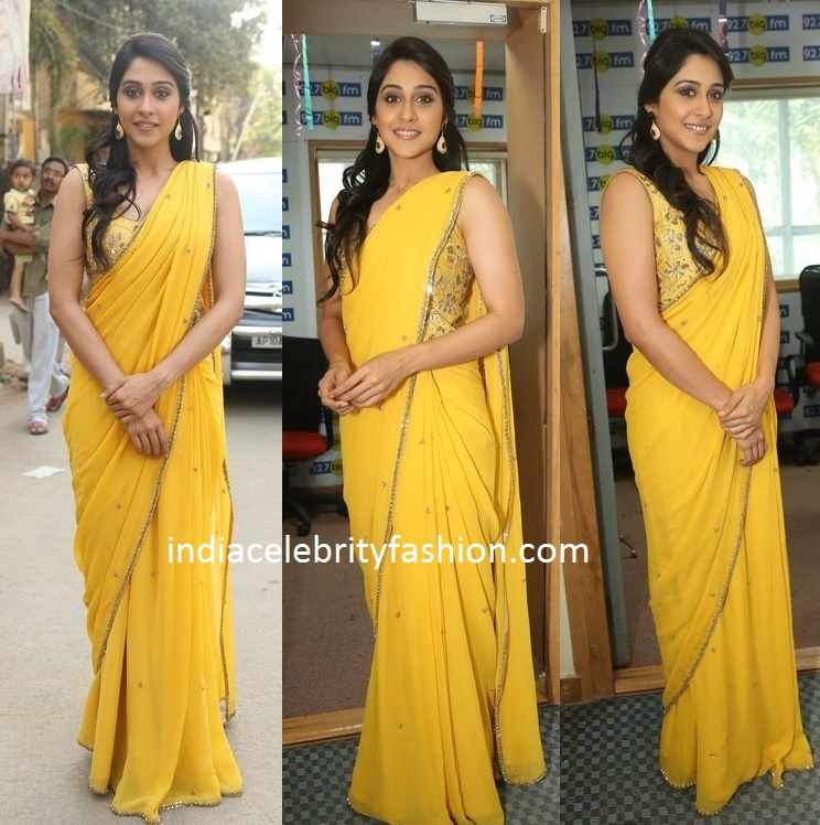 Regina Cassandra in Yellow Saree