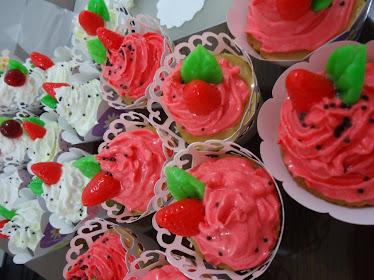 Cup cakes para banho