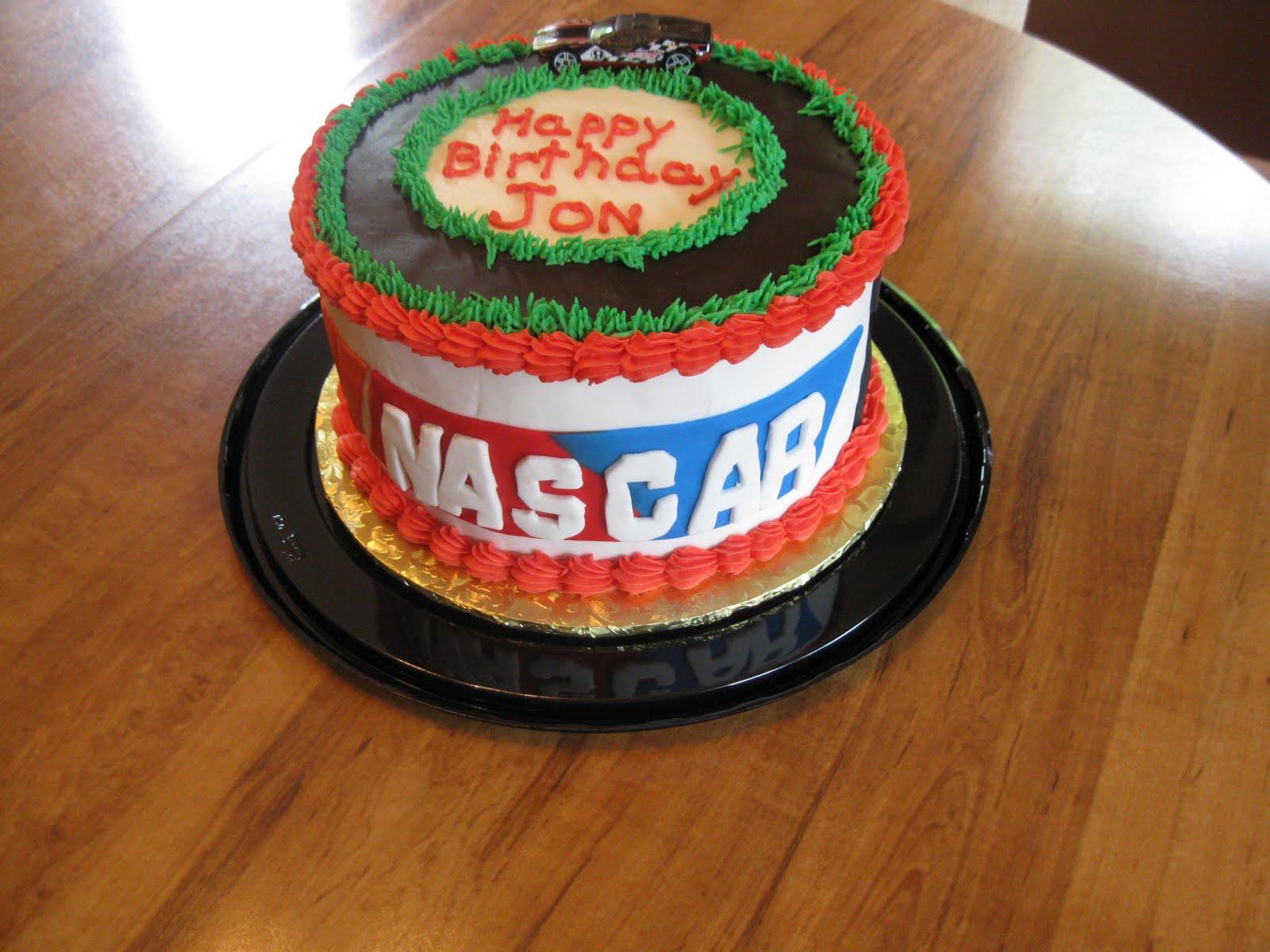 Nascar Birthday Cookie Cake