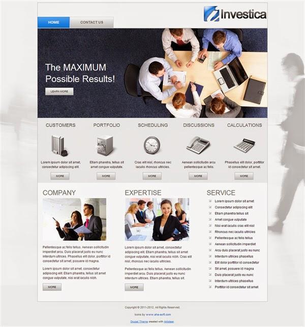 Investica - Free Drupal Theme