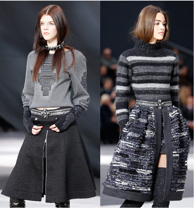 Runway to Style Fashion Blog: Chanel Fall 2013 Unzipped Skirts