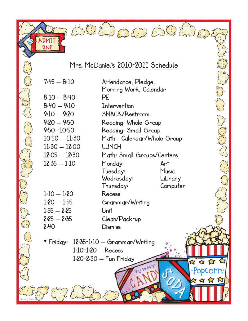 Party schedule template mrs mcdaniel39s 2nd grade daily schedule linky party thecheapjerseys Choice Image