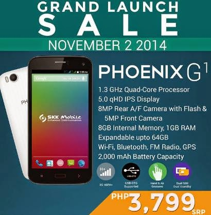 SKK Mobile Phoenix G1 Available this November 2