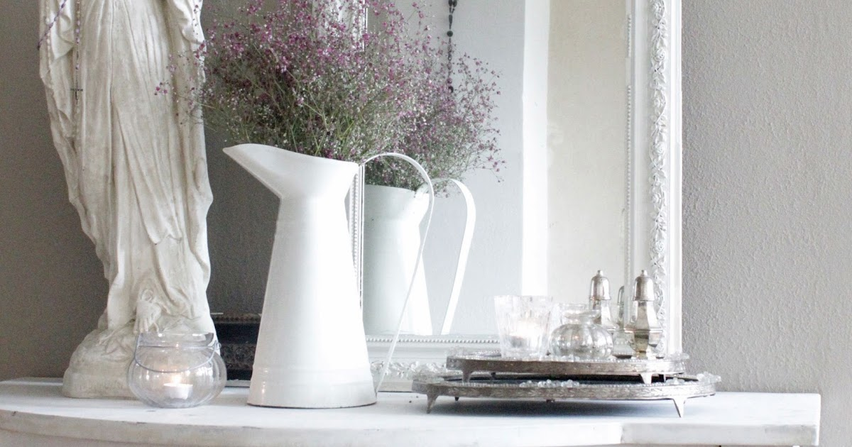 White vintage home romantic taupe - Faust wandfarbe ...