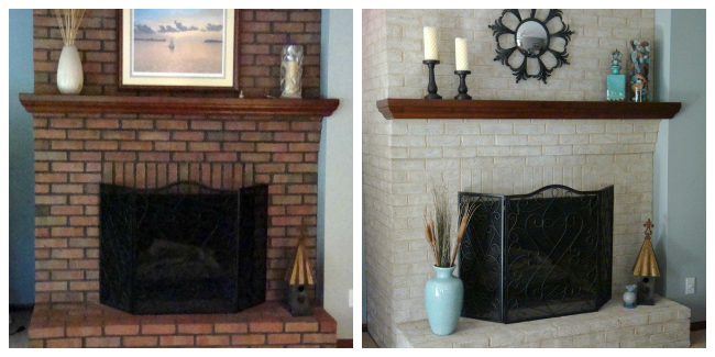 Fireplace Decorating: Use Brick Fireplace Paint to Transform Your ...