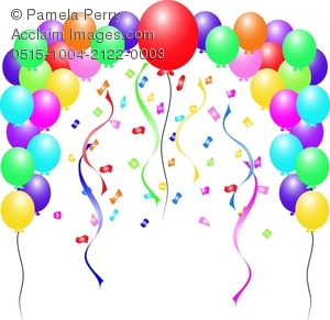Balloon Borders Clipart8