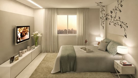 Dica de decoração de quarto de casal Busca Decor Dicas  ~ Quarto Casal Cores Feng Shui