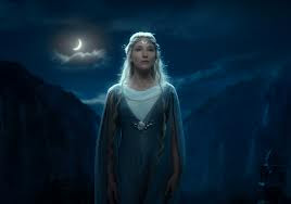 Cate Blanchett as Galadriel in The Hobbit, directed by Peter Jackson
