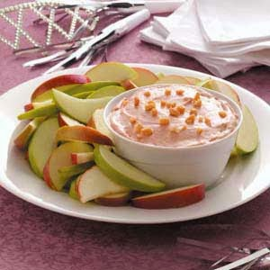 Salsa de queso en manzanas para adelgazar