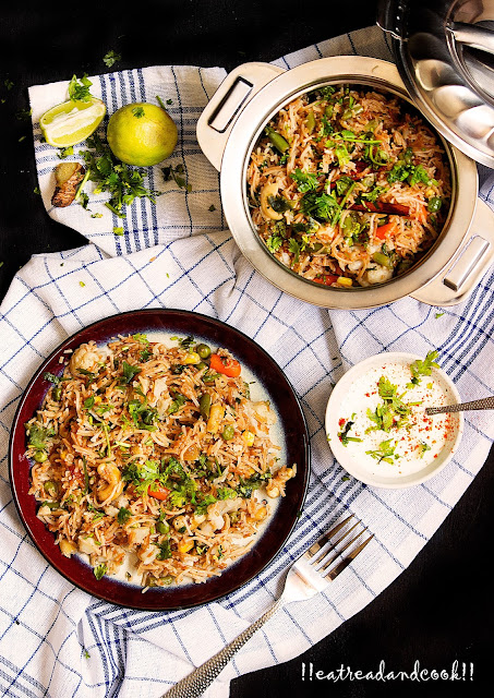 hoe to make sev pulao recipe