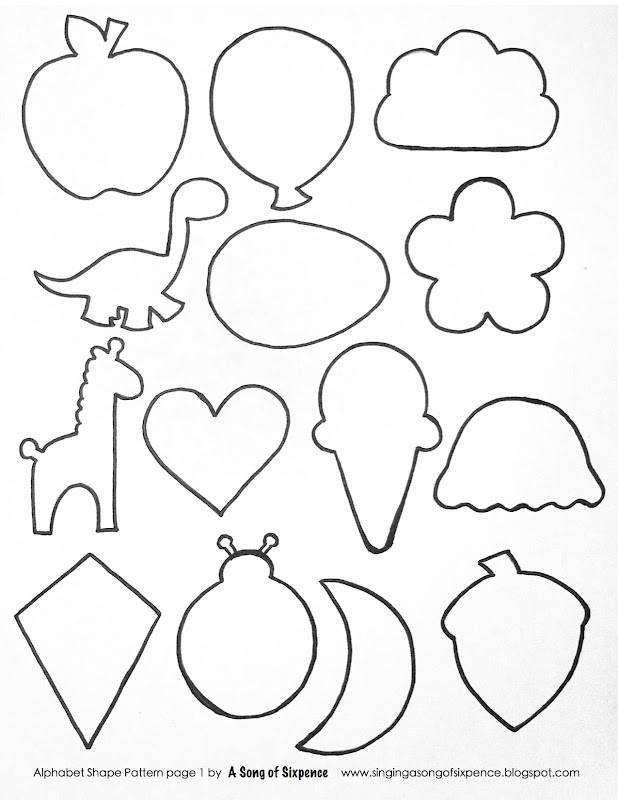 Irresistible image with regard to printable shapes cut out