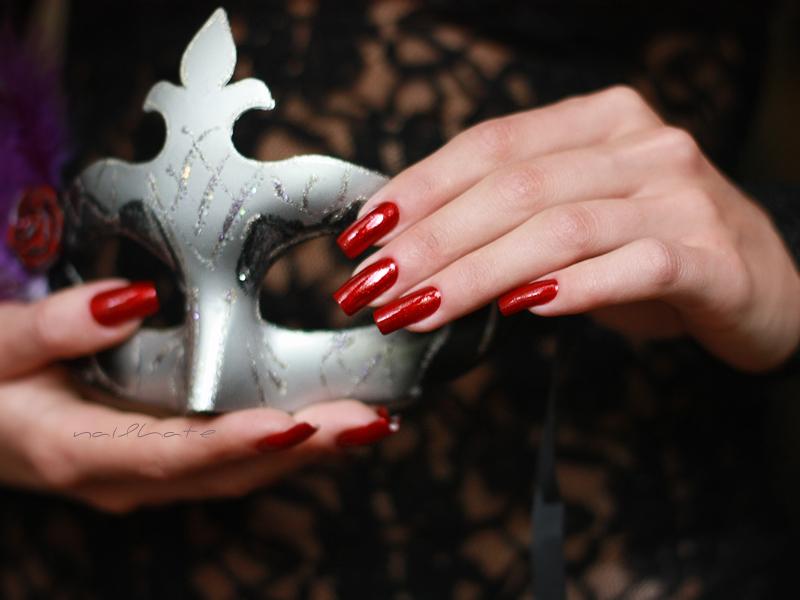 China Glaze Ruby Pumps & China Glaze Glittering Garland