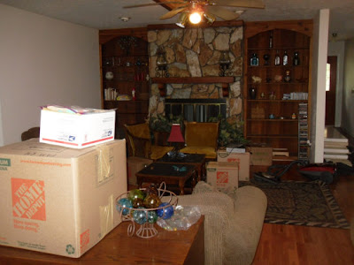 Here's another angle. I'm just unpacking knick-knacks and sticking