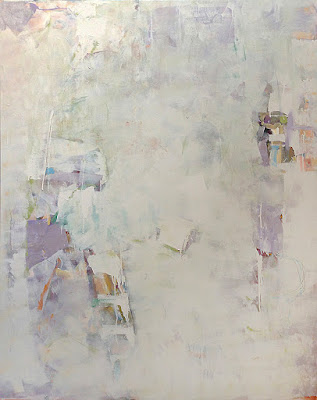 Acrylic abstract painting by artist Karri McLean Allrich, 60x48 - Mapmaking