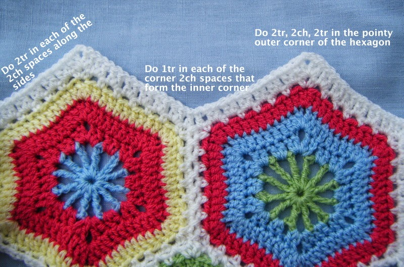 Magic Hexagon Blanket - part 2