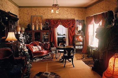 diseño de sala estilo victoriano