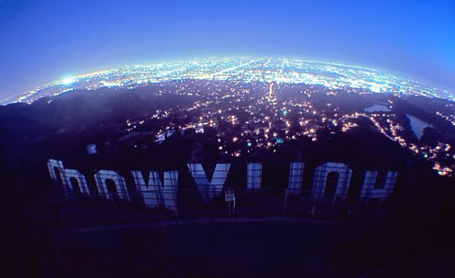 Hollywood Sign at Night - LOCK STOCK
