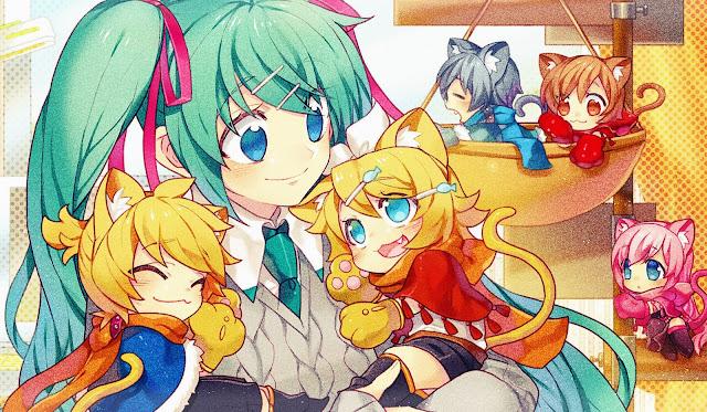 Vocaloid,chibis,hatsune miku