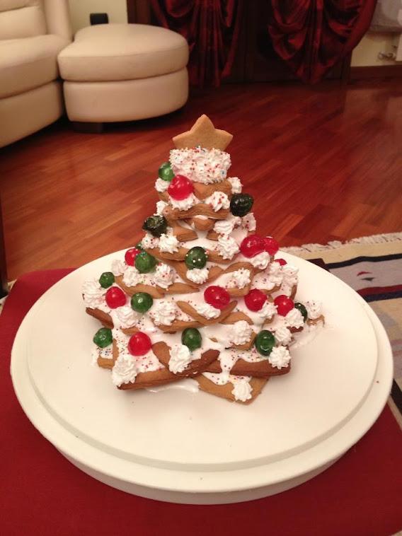 Alberello di Natale di Biscotti.