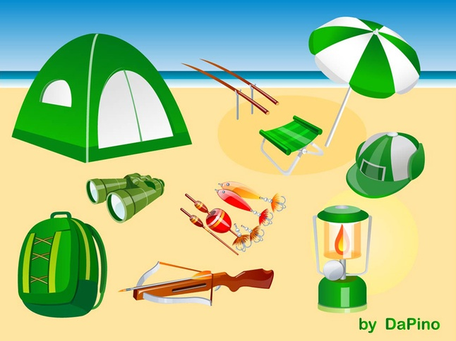 Free Vector Camping, Hunting and Fishing Graphics