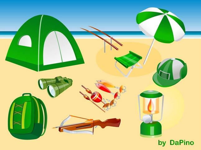 Free Vector Camping, Hunting and Fishing Graphics