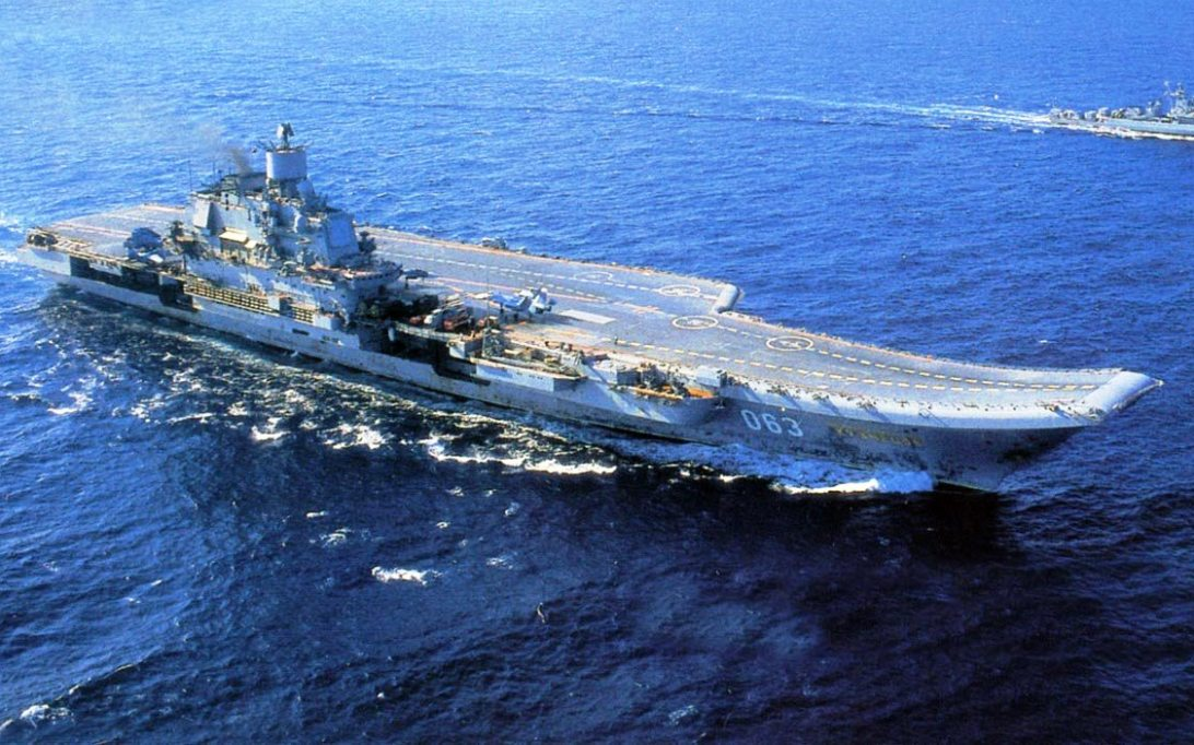RFS Admiral Kuznetsov aircraft carrier wallpaper 1
